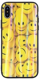 Beline Ultra Slim Back Case With Picture Under Glass For Apple iPhone X/XS Yellow Smiles