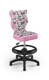 Bērnu krēsls Entelo Petit ST31, melna/rozā, 350 mm x 950 mm