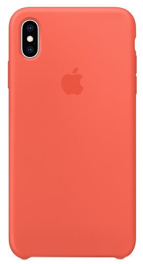 Apple Silicone Back Case For Apple iPhone XS Max Nectarine