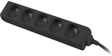 Lanberg Power Strip 3m Black PS0-05E-0300-BK
