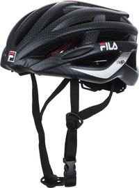 Шлем Fila LED, черный/красный, 540 - 580 мм
