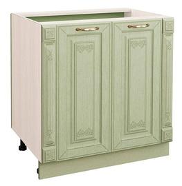 DaVita Olivija 72.62 Kitchen Bottom Cabinet Astrid Pine/Green