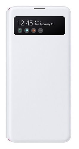 Samsung S View Wallet Case For Samsung Galaxy A41 White