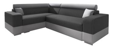 Stūra dīvāns Idzczak Meble Infinity Mini Dark Grey/Grey, kreisais, 256 x 186 x 93 cm