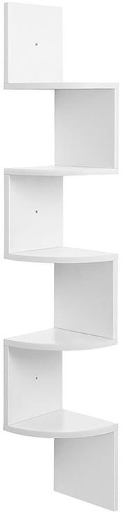 Songmics Wall Bookshelf White 20x127.5cm