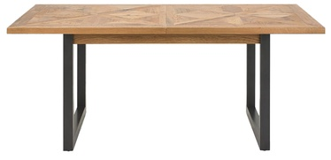 Pusdienu galds Home4you Indus Mosaic Oak/Grey, 2400x1000x765 mm