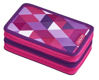 Herlitz 3 Piece Pencil Case Pink Cube