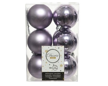 Ziemassvētku eglītes rotaļlieta Decoris 21841, violeta, 60 mm, 12 gab.