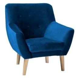 Atzveltnes krēsls Signal Meble Nordic 1 Navy, 76x75x90 cm