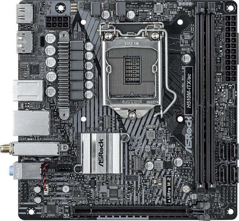 Mātesplate ASRock H510M-ITX/ac