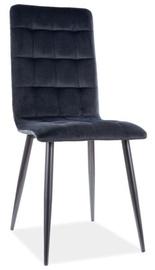 Ēdamistabas krēsls Signal Meble Otto Velvet, melna