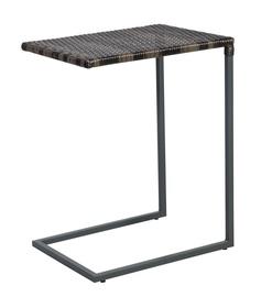 Dārza galds Home4you Wicker Dark Brown, 47.5 x 35 x 63 cm
