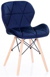 Homede Silla Chairs Velvet 4pcs Navy Blue