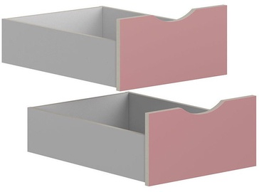 Black Red White Drawers for Stanford Cabinet Light Grey/Pink