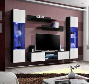 Dzīvojamās istabas mēbeļu komplekts ASM Fly O3 White/Black