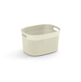 KIS Filo Storage Basket With Handle 18l White