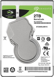Seagate BarraCuda 2TB 5400RPM 128MB ST2000LM015