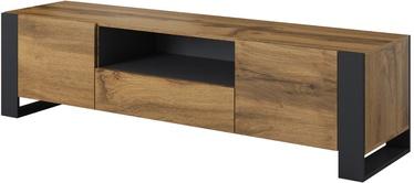 TV galds Cama Meble Wood Wotan/Anthracite, 1800x440x480 mm