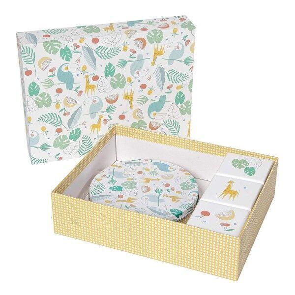 Komplekts roku / kāju zīmogu izveidei Baby Art Magic Box Toucans Present Set