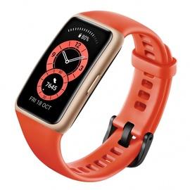 Fitnesa aproce Huawei Band 6 Amber Sunrise, sarkana/oranža
