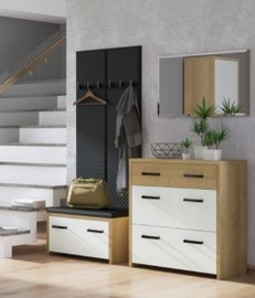 ML Meble Hallway Unit Gloss 2 Riviera Oak/White