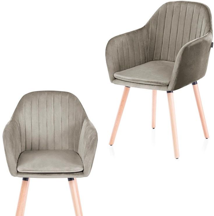 Ēdamistabas krēsls Homede Lacelle, smilškrāsas, 2 gab.