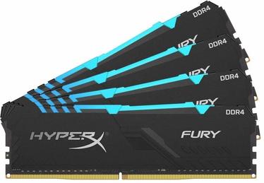 Kingston HyperX Fury Black RGB 64GB 3200MHz CL16 DDR4 KIT OF 4 HX432C16FB3AK4/64