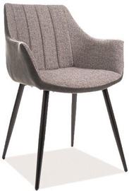 Ēdamistabas krēsls Signal Meble Bruno Grey/Black, 1 gab.