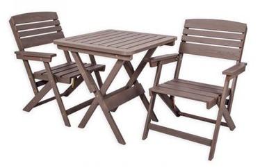 Комплект уличной мебели Folkland Timber Folding Heini 2 Graphite