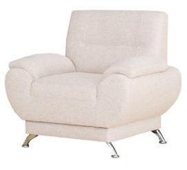 Atzveltnes krēsls Kanclers Livonia Fabric Cream, 92x76x89 cm