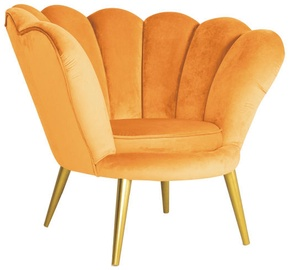 Atzveltnes krēsls Signal Meble Magnolia Curry/Gold, 95x60x87 cm