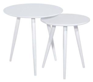 Kafijas galdiņš Signal Meble Cleo White, 500x500x500 mm
