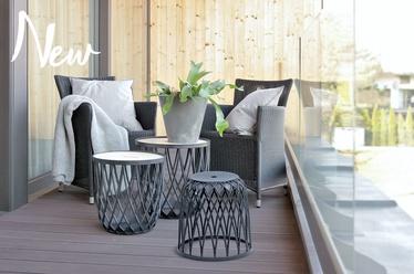 Комплект уличной мебели Prosperplast Uniqubo Multifunctional IKUBS3-405U, серый, 2 места