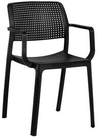 Ēdamistabas krēsls Home4you Pipa Black, 4 gab.
