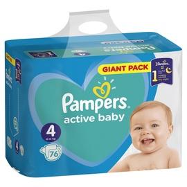 Autiņbiksītes Pampers Active Baby, 4, 76 gab.