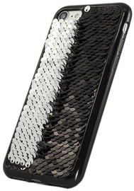 TakeMe Magic Shine Paillette Back Case For Huawei P20 Pro Black/Silver