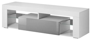 ТВ стол Vivaldi Meble Everest 2, белый/серый, 1400x330x505 мм