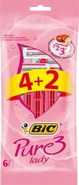 Bic Pure 3 Pink 6pcs