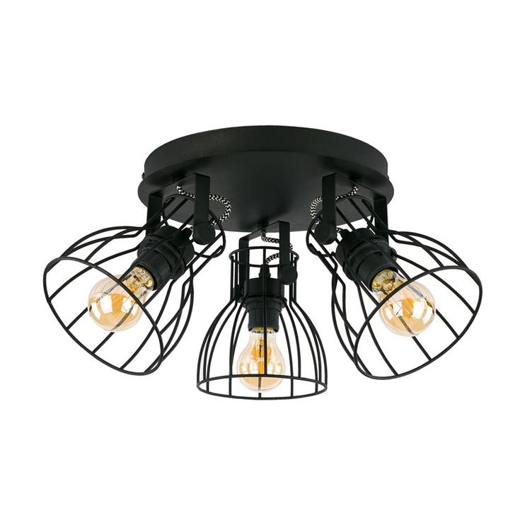 LAMPA GRIESTU ALANO BLACK 2123 3X60W E27