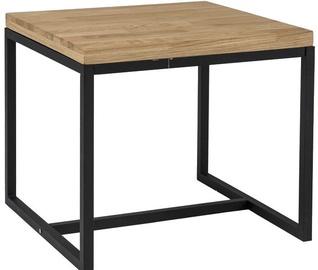 Kafijas galdiņš Signal Meble Loras Oak/Black, 600x600x540 mm