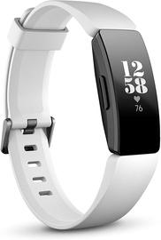 Fitnesa aproce Fitbit Inspire HR, balta/melna