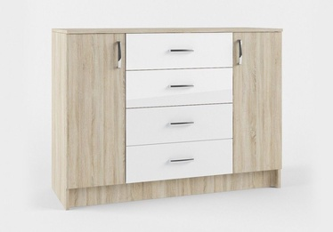 MN Sofi SKM1200.1 Chest Of Drawers Sonoma Oak/White