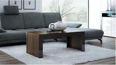 Kafijas galdiņš Pro Meble Milano Walnut/Black, 1200x600x500 mm
