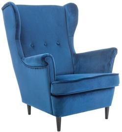 Atzveltnes krēsls Signal Meble Lord Velvet Blue, 72x85x101 cm