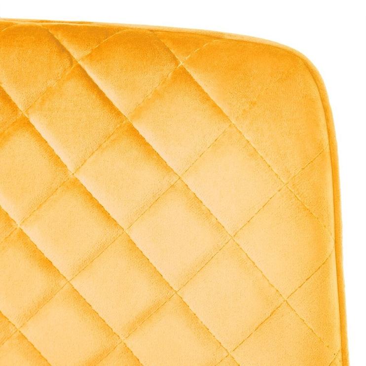 Ēdamistabas krēsls Homede Kemble, dzeltena, 4 gab.