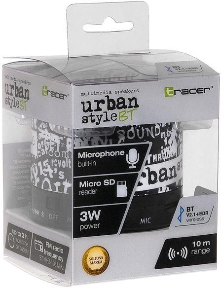 Беспроводной динамик Tracer Stream BT Urban Style, 3 Вт