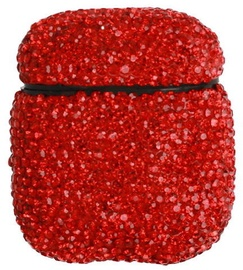 TakeMe Ultra-Thin Protective Case With Sparkle Diamonds For Apple AirPods Red