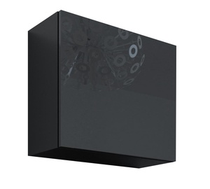 Cama Meble Vigo Square Cabinet Black/Black Gloss
