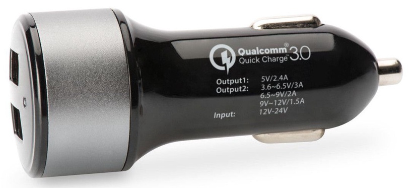Ednet Qualcomm Quick Charge 3.0 Black Silver