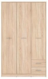 Skapis Black Red White Nepo Plus Sonoma Oak, 118.5x54.5x197 cm